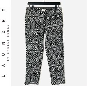 Laundry by Shelli Segal Damask Print Cropped Pants